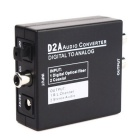 Digital to Analog Audio Converter w/ US Plugss Adapter - Black