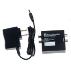 Digital to Analog Audio Converter w/ US Plug Adapter - Black