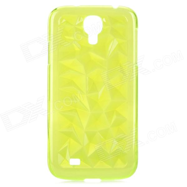 3D Magic Cube Style Protective ABS Back Case for Samsung Galaxy S4 i9500 - Translucent Green 2x e marked obc error free 24 led white license number plate light lamp for bmw e81 e82 e90 e91 e92 e93 e60 e61 e39 x1 e84