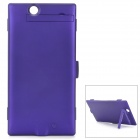 High Capacity External ''4500mAh'' Li-polymer Battery w/ Case / Stand for Sony XL39H - Purple