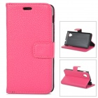 Lychee Grain Style Protective PU Leather Case for Google Nexus 5 - Deep Pink