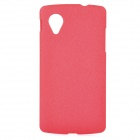 TEMEI Protective Frosted Plastic Back Case for Google Nexus 5 - Red