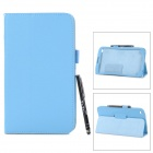 Protective PU Leather Case w/ Stylus for Samsung Galaxy Tab 3 / T311 / T310 - Sky Blue