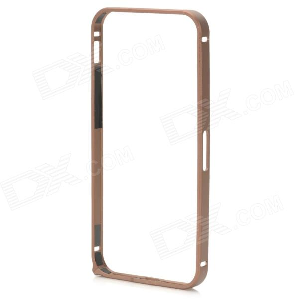 Ultra-Slim Aluminum Alloy Bumper Frame Case for IPHONE 5 / 5S - Coffee ultra slim aluminum alloy bumper frame case for iphone 5 5s light blue
