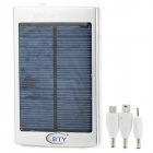 Universal Solar 5V ''30000mAh'' External Power Bank - Silver