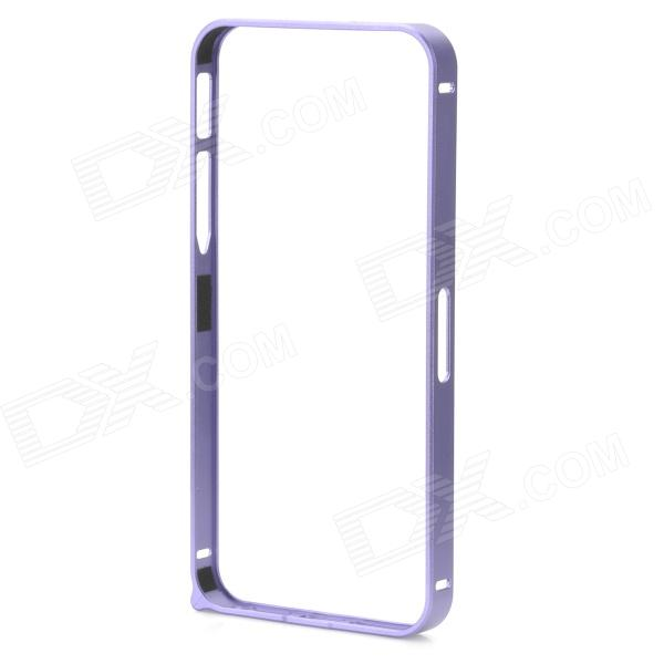 Ultra-Slim Aluminum Alloy Bumper Frame Case for IPHONE 5 / 5S - Purple dots pattern flexible tpu case for iphone 7 plus 5 5 inch purple