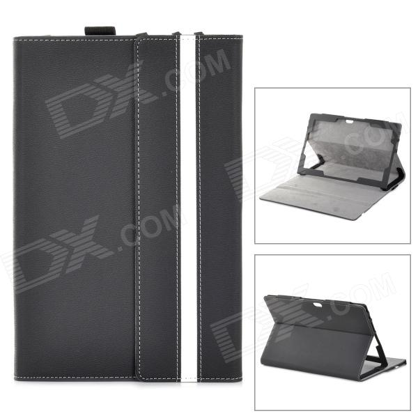 "ZQ-760 PU Leather Case w/ MultiView Stand for Microsoft Surface Windows RT 10.6"" - Black"