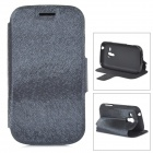 Protective PU Leather Case w/ Card Holder Slot for Samsung Galaxy Trend Duos S7562 - Black