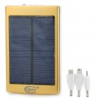 "Solar Powered ""30000mAh"" External Battery Power Bank - Golden"