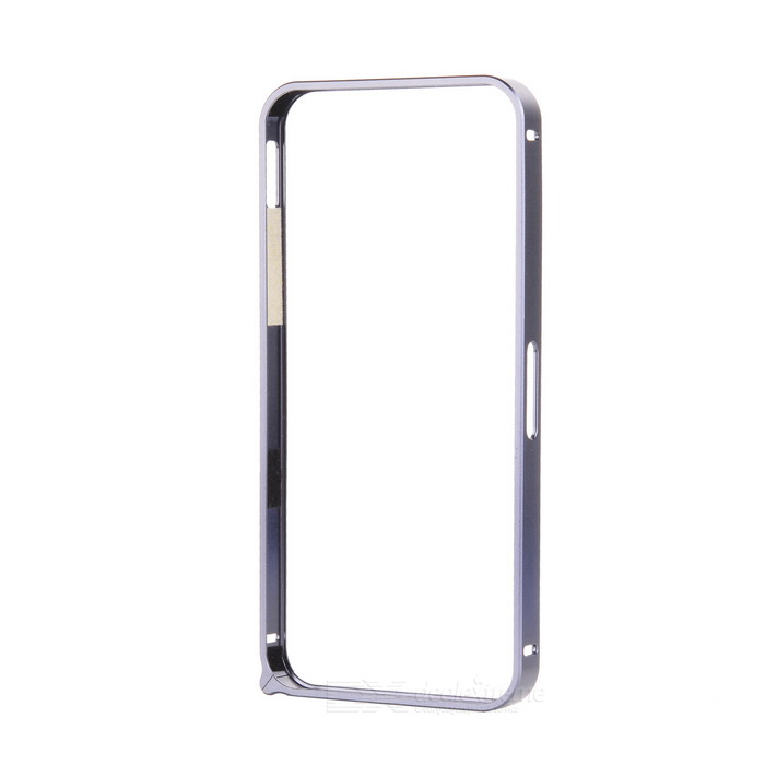 Ultra-Slim Aluminum Alloy Bumper Frame Case for IPHONE 5 / 5S - Black Grey ultra slim aluminum alloy bumper frame case for iphone 5 5s light blue