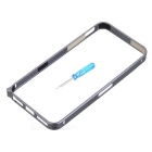 Ultra-Slim Aluminum Alloy Bumper Frame Case for IPHONE 5 / 5S - Black Grey
