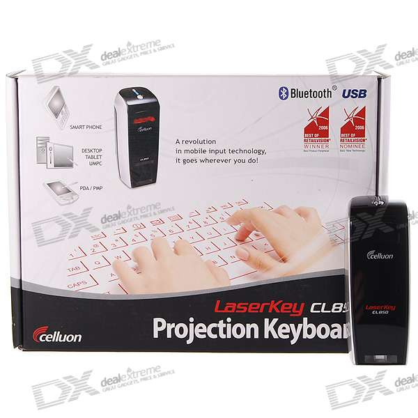 Celluon LaserKey CL850 Bluetooth Wireless Laser Projection Virtual Keyboard