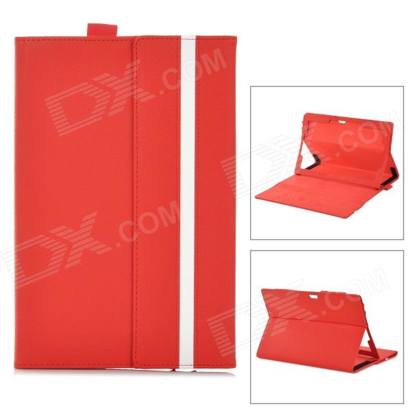 ZQ-760 Protective PU Leather Case w/ MultiView Stand for Microsoft Surface Windows RT 10.6 - Red кофемашина delonghi ecam 45 760 w белый