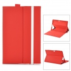 "ZQ-760 Protective PU Leather Case w/ MultiView Stand for Microsoft Surface Windows RT 10.6"" - Red"
