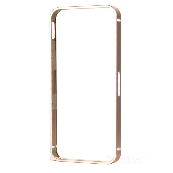 Ultra-Slim Aluminum Alloy Bumper Frame Case for IPHONE 5 / 5S - Light Golden nillkin gothic series ultra slim aluminum alloy bumper frame case for iphone 6 silver