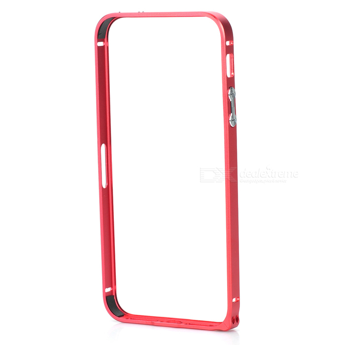 Ultra-Slim Aluminum Alloy Bumper Frame Case for IPHONE 5 / 5S - Red stylish aluminum alloy protective bumper frame set for iphone 4 4s black red