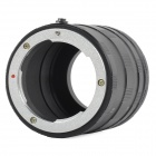KWEN 43mm Close-Up Adapter Rings Extension Tube for Nikon 1 - Black + Silver
