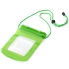 Universal Waterproof Plastic Bag w/ Strap for Mobile Phone - Green