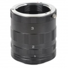 KWEN 46mm Close-Up Adapter Rings Extension Tube for Canon EOS-M - Black + Silver