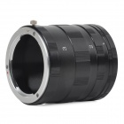 KWEN 46mm Close-Up Adapter Rings Extension Tube for Canon EOS-M - Sort + Silver