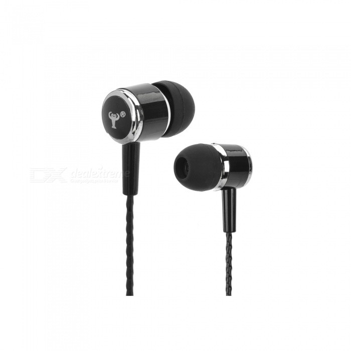 BSBESTE Q7 In-Ear Style Hands-free Earphone w/ Micrphone for Cellphone - Black (115cm)