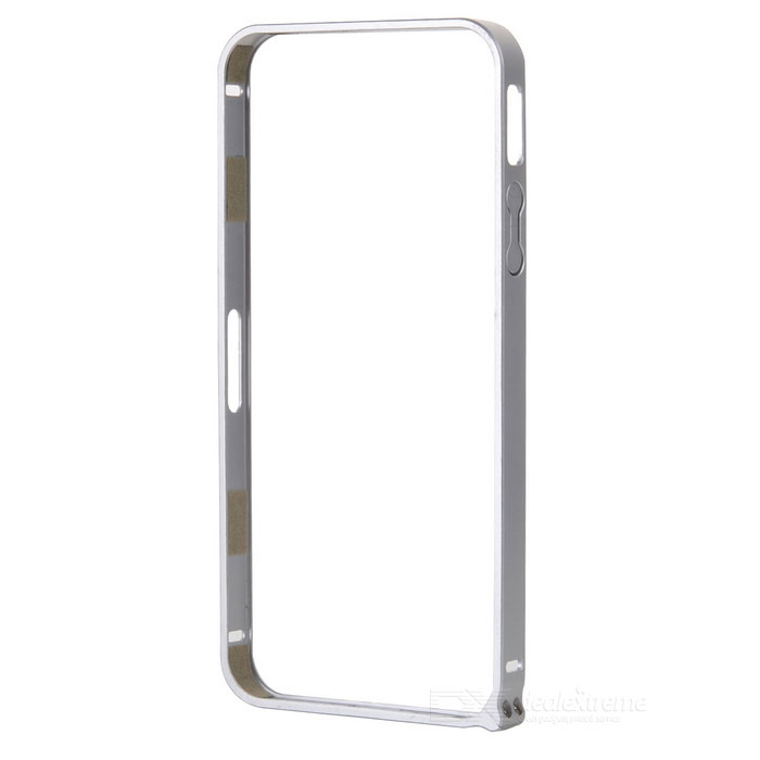 Ultra-Slim Aluminum Alloy Bumper Frame Case for IPHONE 5 / 5S - Silver nillkin gothic series ultra slim aluminum alloy bumper frame case for iphone 6 silver