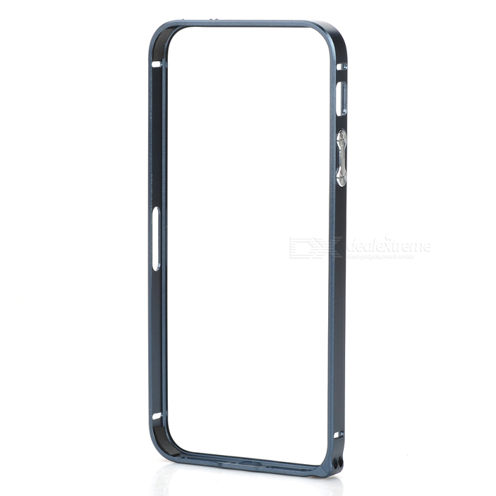 Ultra-Slim Aluminum Alloy Bumper Frame Case for IPHONE 5 / 5S - Grey ultra slim aluminum alloy bumper frame case for iphone 5 5s light blue