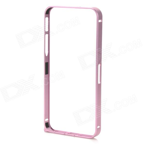 Ultra-Slim Aluminum Alloy Bumper Frame Case for IPHONE 5 / 5S - Pink Purple nillkin gothic series ultra slim aluminum alloy bumper frame case for iphone 6 silver
