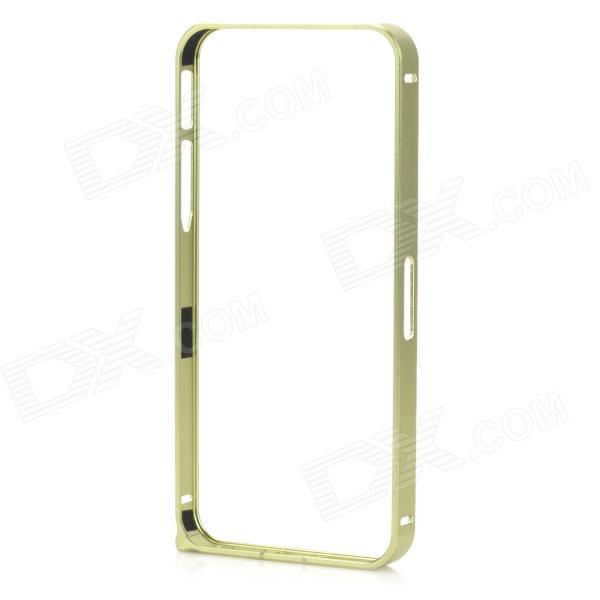 Ultra-Slim Aluminum Alloy Bumper Frame Case for IPHONE 5 / 5S - Yellowish Green ultra slim aluminum alloy bumper frame case for iphone 5 5s light blue