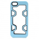 Hollow Out Style Protective Plastic Bunper Frame for IPHONE 5 / 5S - Light Blue + Black
