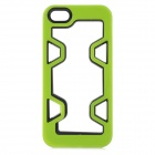 Protective Plastic Bumper Case for IPHONE 5 / 5S - Green + Black