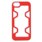Protective Plastic Bumper Case for IPHONE 5 / 5S - Red + White