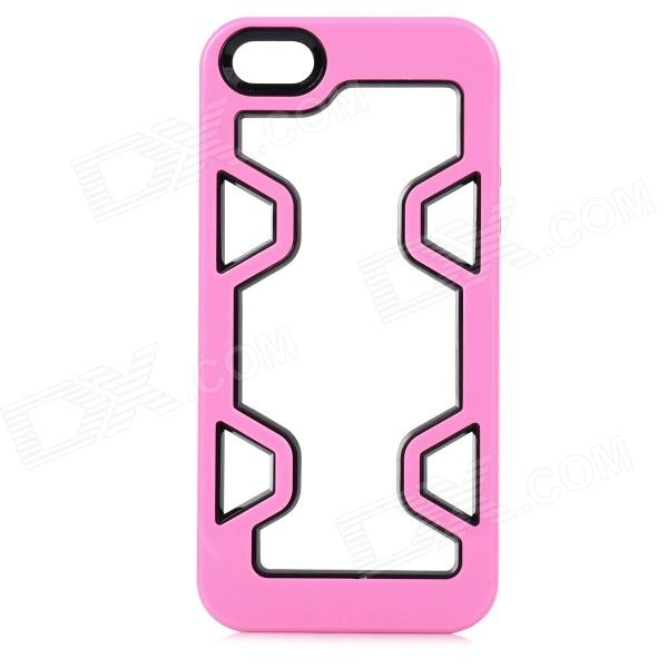 Protective Plastic Bumper Case for IPHONE 5 / 5S - Pink + Black pandaoo plastic bumper case for iphone 6 plus 5 5 pink