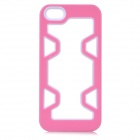 Protective Plastic Bumper Case for IPHONE 5 / 5S - Pink + White