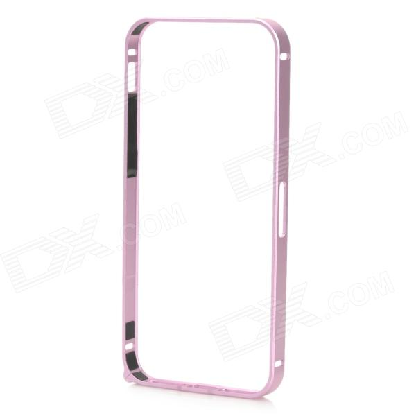 Ultra-Slim Aluminum Alloy Bumper Frame Case for IPHONE 5 / 5S - Pink-Purple