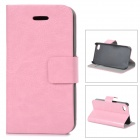 Protective PU Leather Case for IPHONE 4 / 4S - Pink