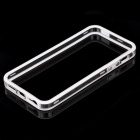 S-What Plastic Bumper Case for IPHONE SE/5/5S - White + Transparent
