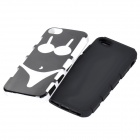 Bikini Style Detachable Protective Plastic + Silicone Back Case for IPHONE 5 - Black + White