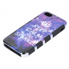 Starry Sky Design Detachable Protective Plastic + Silicone Back Case for IPHONE 5 - Purple + White