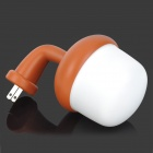 Datouren 0.7W 50lm 7000K 6-LED White Sound / Light Control Lamp - Yellow Brown + White (US Plugs)