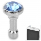 Umbrella Style Anti-dust Plug for IPHONE - Blue + Silver