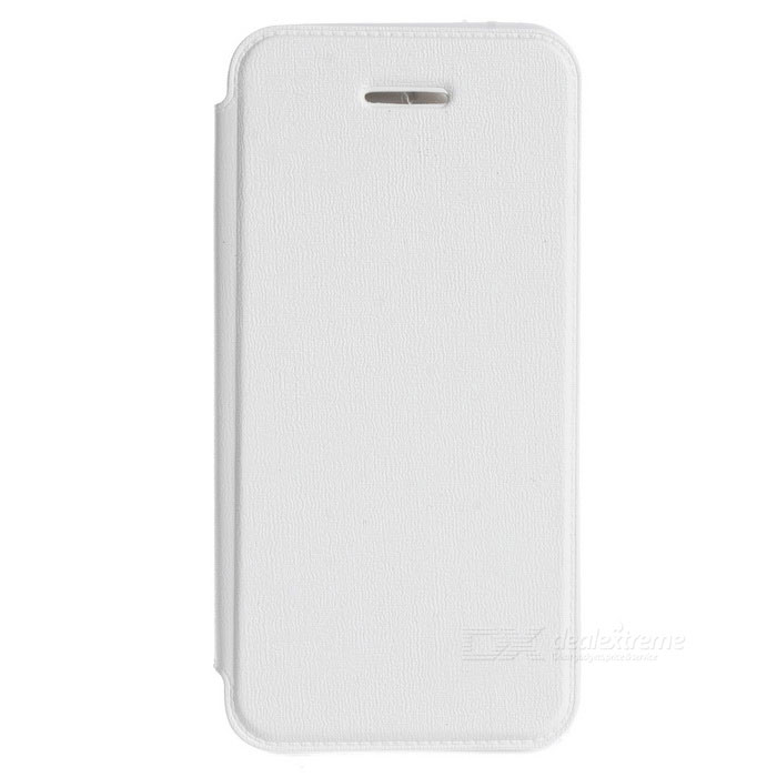 Protective PU Leather Case for IPHONE 5 / 5S - White protective matte frosted back case for htc one x s720e black