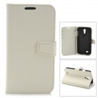 Stylish Protective PU Leather Case for Samsung Galaxy S4 i9500 - White