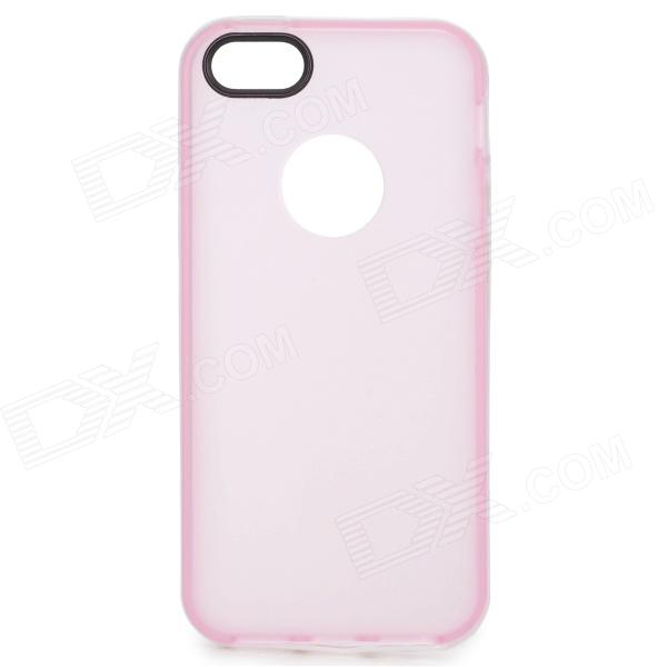 S-What Matte Protective TPU + PC Back Case for IPHONE 5 / 5S - Translucent Pink + White protective pc tpu back case for iphone 5 w anti dust cover lavender purple