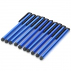 Plastic High Sensitive Stylus Pen w/ Clip for IPAD / IPHONE / IPOD TOUCH - Blue (10PCS)