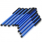 Plastic High Sensitive Stylus Pen w / Clip para iPad / iPhone / iPod Touch - Azul (10PCS)