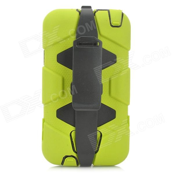 Protective Anti-Drop Anti-Shock Anti-Dust Case w/ Clip for Samsung Galaxy Note 3 N9000 - Green - DXPlastic Cases<br>Color Green Brand N/A Model N/A Material ABS + silicone + PVC Quantity 1 Piece Compatible Models Samsung Galaxy Note 3 N9000 / N9002 / N9005 Other Features Provides the best protection for your device; Anti-drop anti-shock and anti-dust; With clip for easy carrying Packing List 1 x Protective case<br>