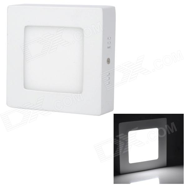 купить LSON G-6W 6W 350lm 6000K 30-2835 SMD LED White Light Square Ceiling Lamp - White (85~265V) недорого