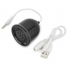 S-What Mini Bell Style 3.5mm Speaker w/ USB Adapter Cable for IPHONE / IPOD / IPAD (16cm / 31cm)