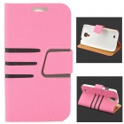 Stylish Protective PU Leather Case for Samsung Galaxy S4 i9500 - Pink